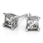 Princess Diamond Stud Earrings in White Gold (1 1/2 ctw) | Thumbnail 01