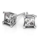 Princess Diamond Stud Earrings in White Gold (1/4 ctw) | Thumbnail 01