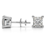 Princess Diamond Stud Earrings in White Gold (3 ctw) | Thumbnail 01