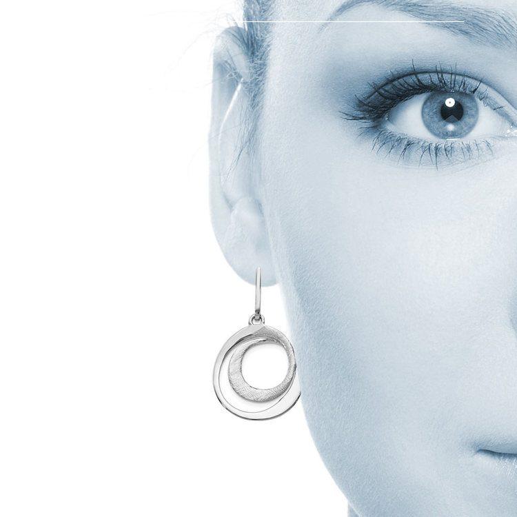 Radiant Essence Textured Dangle Earrings in Silver | 04