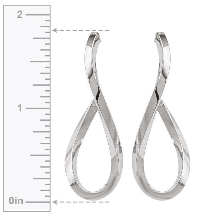Raindrop Hoop Earrings in White Gold | 03