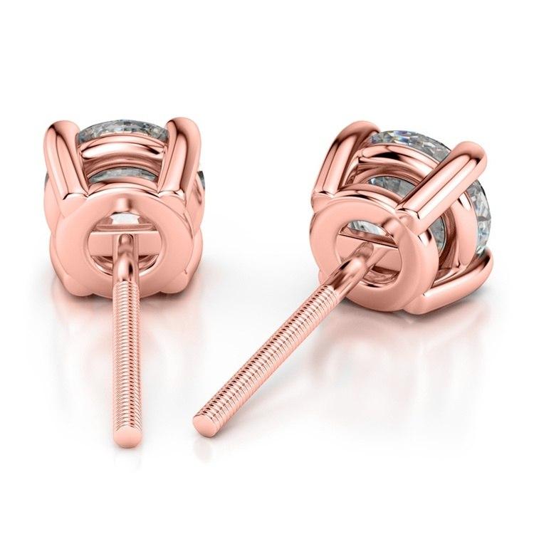 Rose Gold Moissanite Stud Earrings (7.5mm) | 02