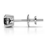 Round Black Diamond Single Stud Earring In White Gold (1/2 Ctw) | Thumbnail 01