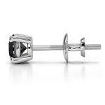 Round Black Diamond Single Stud Earring In White Gold (3/8 Ctw) | Thumbnail 01