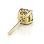 Round Diamond Single Stud Earring In Yellow Gold (3/4 Ctw) | Thumbnail 01
