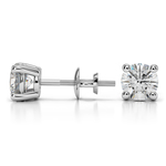 Round Diamond Stud Earrings in Platinum (1 1/2 ctw) - Value Collection | Thumbnail 01