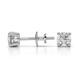 Round Diamond Stud Earrings in White Gold (1/2 ctw) - Value Collection | Thumbnail 01