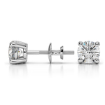 Round Diamond Stud Earrings in Platinum (1 ctw) - Value Collection | Thumbnail 01