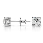 Round Diamond Stud Earrings in White Gold (1 ctw) - Value Collection | Thumbnail 01