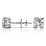 Round Diamond Stud Earrings in White Gold (2 ctw) - Value Collection | Thumbnail 01