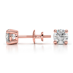 Round Diamond Stud Earrings in Rose Gold (3/4 ctw) - Value Collection | Thumbnail 01