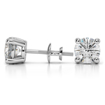 Round Diamond Stud Earrings in Platinum (4 ctw) - Value Collection | Thumbnail 01