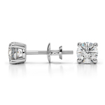 Round Diamond Stud Earrings in White Gold (3/4 ctw) | Thumbnail 01