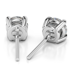 Round Diamond Stud Earrings in White Gold (3 ctw) | Thumbnail 01