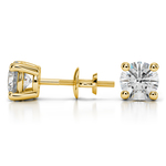 Round Diamond Stud Earrings in Yellow Gold (2 ctw) | Thumbnail 01