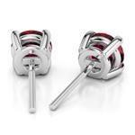 Ruby Round Gemstone Stud Earrings in Platinum (3.2 mm) | Thumbnail 01