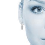 Textured Diamond Cut Hoop Earrings in Silver   Thumbnail 01