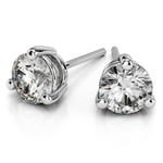 Three Prong Diamond Stud Earrings in Platinum (1/4 ctw) | Thumbnail 01
