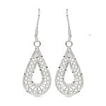 Twisted Pear Filigree Earrings in Silver | Thumbnail 01