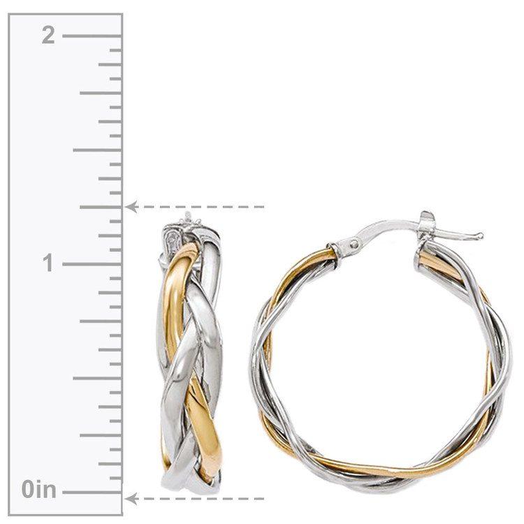 Two-Tone Braided Hoop Earrings | 03