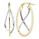 Two-tone Gold Futurism Hoop Earrings | Thumbnail 01