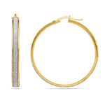Two-tone Glimmer Hoop Earrings in Yellow Gold   Thumbnail 01