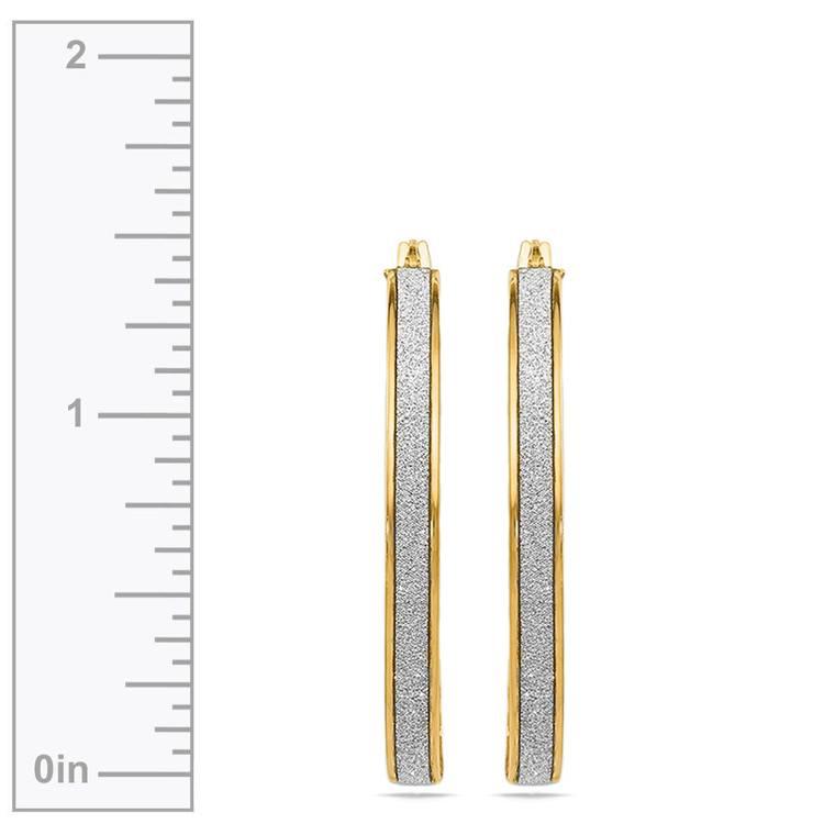 Two-tone Glimmer Hoop Earrings in Yellow Gold   03