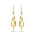 Two-Tone Triple Teardrop Dangle Earrings | Thumbnail 01