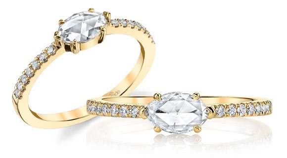 east west set marquise diamond ring