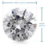 0.8 MM Round Diamond, Luxury Melee Diamonds | Thumbnail 02