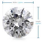 1.25 MM Round Diamond, Luxury Melee Diamonds   Thumbnail 02