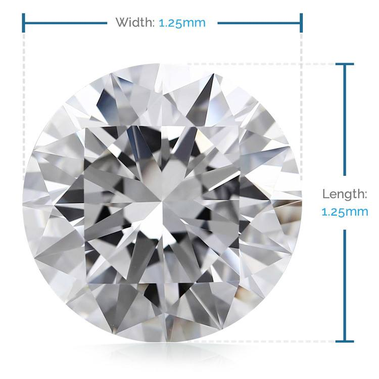 1.25 MM Round Diamond, Luxury Melee Diamonds   02