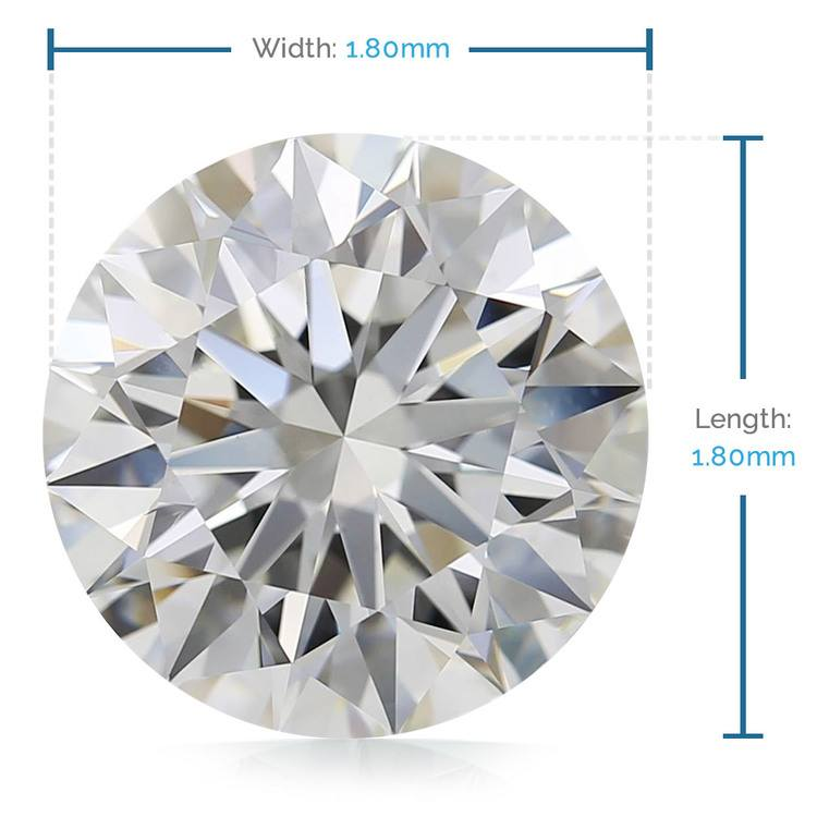 1.8 MM Round Diamond, Premium Melee Diamonds | 02