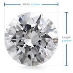 1 MM Round Diamond, Luxury Melee Diamonds   Thumbnail 02