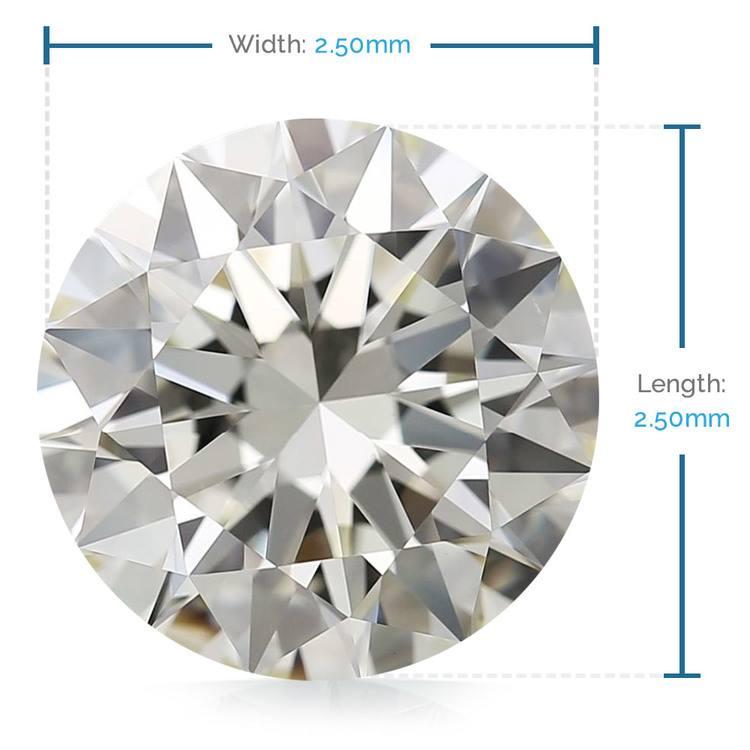 2.50 MM Round Diamond, Value Melee Diamonds | 02