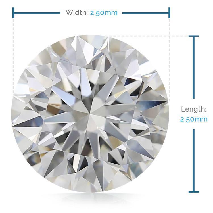 2.5 MM Round Diamond, Premium Melee Diamonds | 02