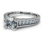 Antique Floral Diamond Engagement Ring in Platinum (1/2 ctw) | Thumbnail 04
