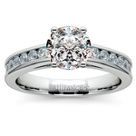 Channel Cathedral Diamond Engagement Ring in Palladium (1/2 ctw) | Thumbnail 01