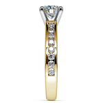 Channel Cathedral Diamond Engagement Ring in Yellow Gold (1/2 ctw) | Thumbnail 03