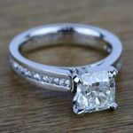 Channel Cathedral Diamond Engagement Ring in White Gold (1/2 ctw) | Thumbnail 05