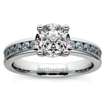 Channel Diamond Engagement Ring in White Gold (1/2 ctw) | Thumbnail 01