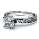 Channel Diamond Engagement Ring in White Gold (1/2 ctw) | Thumbnail 04