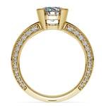 Half Bezel Knife Edge Diamond Engagement Ring in Yellow Gold | Thumbnail 02