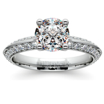 Knife Edge Diamond Engagement Ring in Platinum (1/2 ctw) | Thumbnail 01