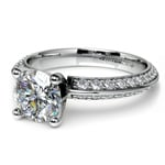 Knife Edge Diamond Engagement Ring in White Gold (1/2 ctw) | Thumbnail 04