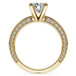 Knife Edge Diamond Engagement Ring in Yellow Gold (1/2 ctw) | Thumbnail 02