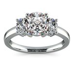 Oval Diamond Engagement Ring in White Gold (1/2 ctw) | Thumbnail 01