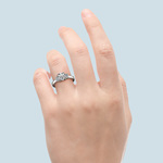 Oval Diamond Engagement Ring in Platinum (1/2 ctw) | Thumbnail 05
