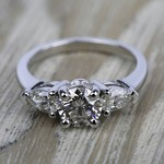 Pear Diamond Engagement Ring in White Gold (1/2 ctw) | Thumbnail 05