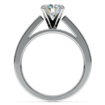 Princess Channel Diamond Engagement Ring in White Gold (1/2 ctw) | Thumbnail 02